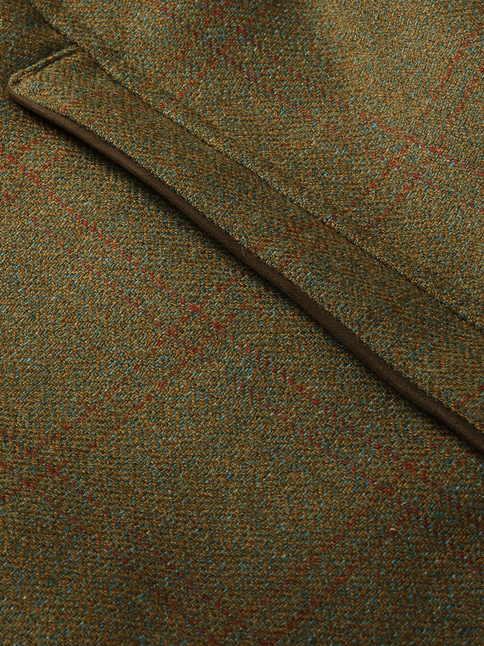James Purdey & Sons Checked Herringbone Wool-Blend Tweed Coat