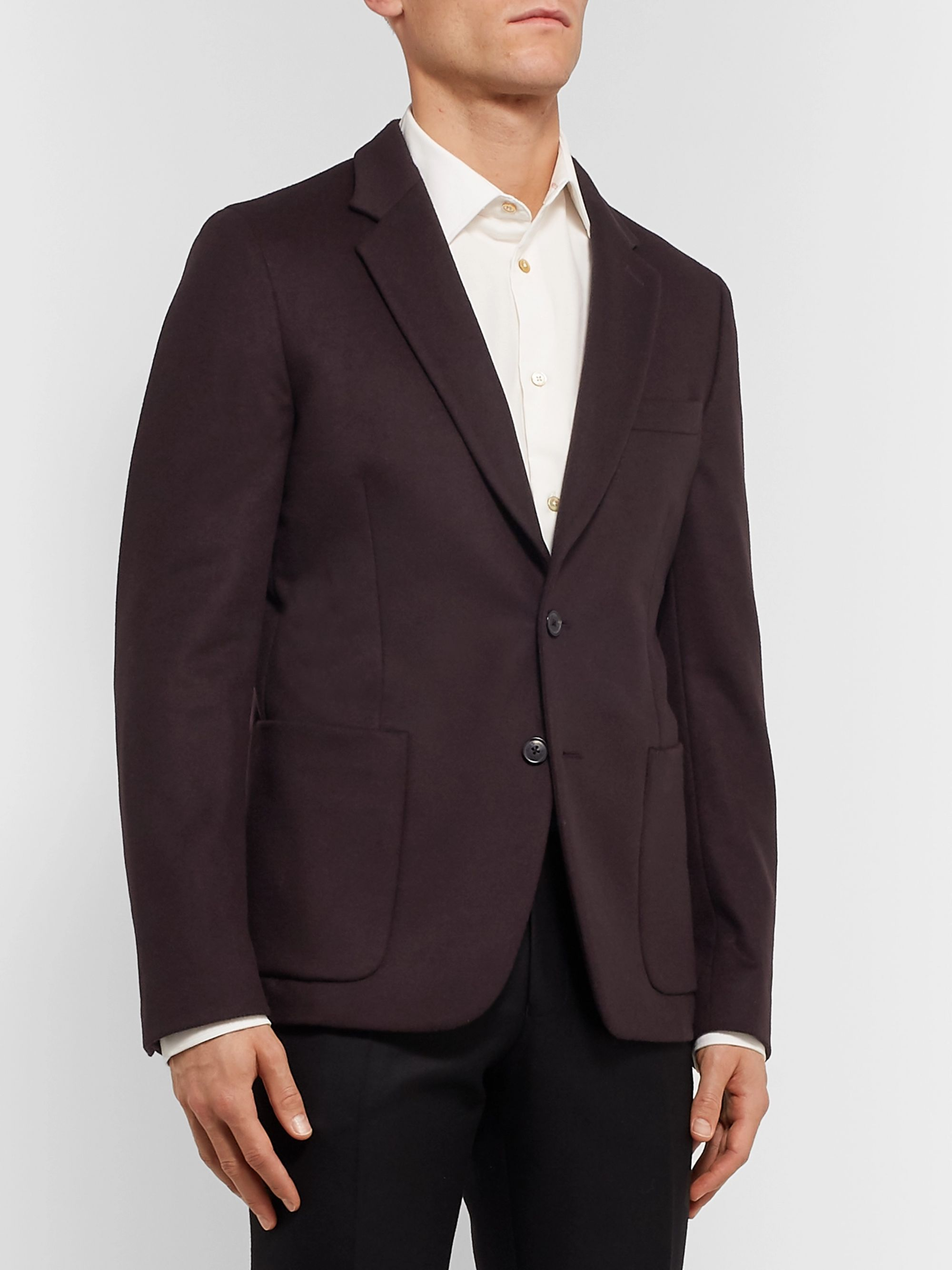 Paul Smith Merlot Slim-Fit Wool and Cashmere-Blend Suit Jacket