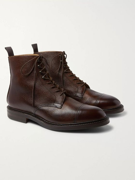 Purdey Full-Grain Leather Boots