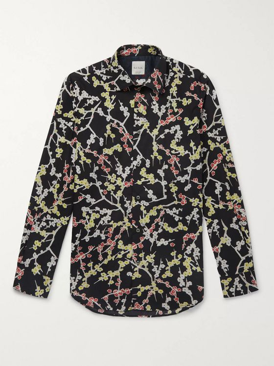Paul Smith Printed Cotton-Poplin Shirt