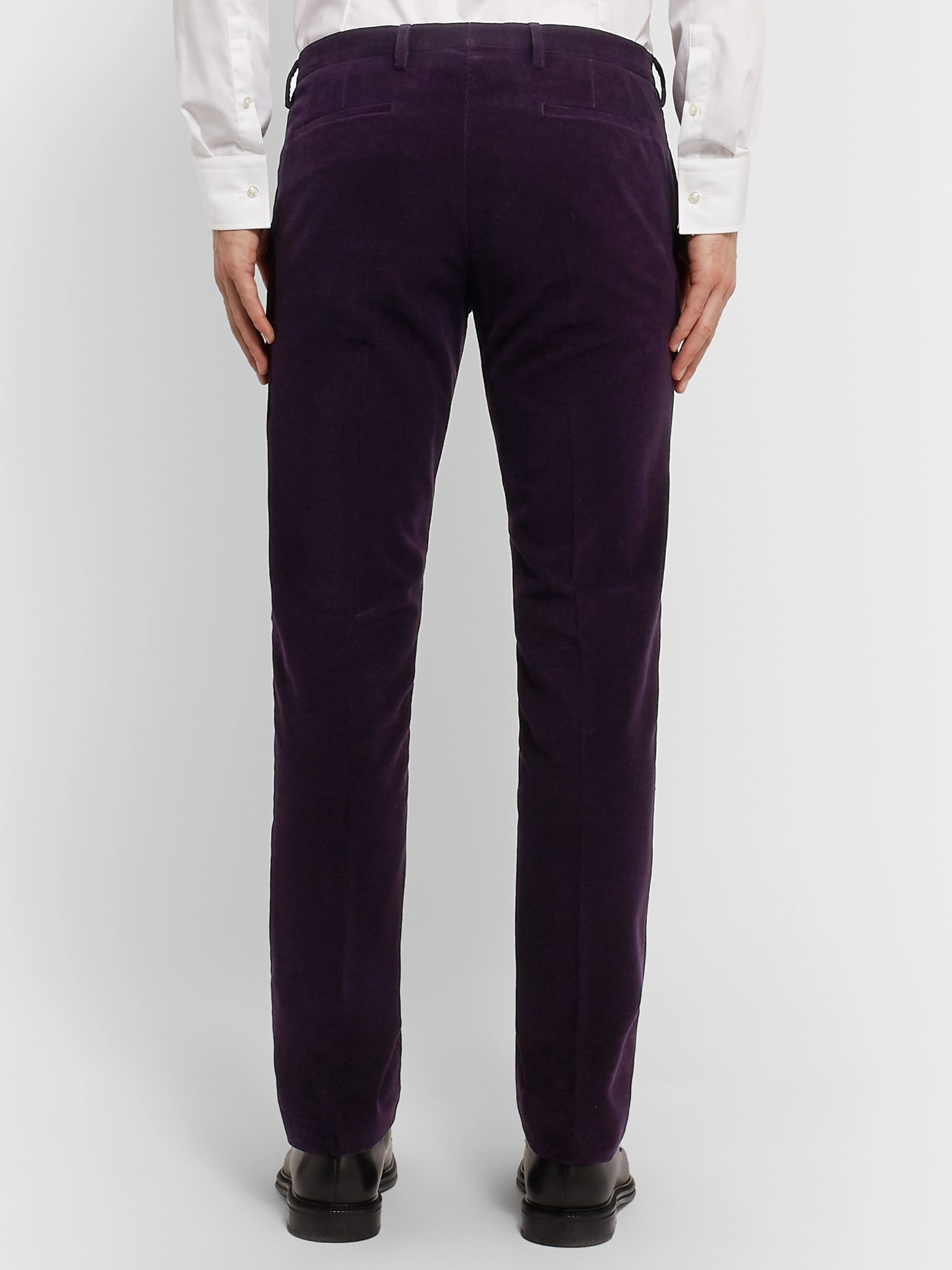 Paul Smith Teal Slim-Fit Cotton and Cashmere-Blend Corduroy Suit Trousers
