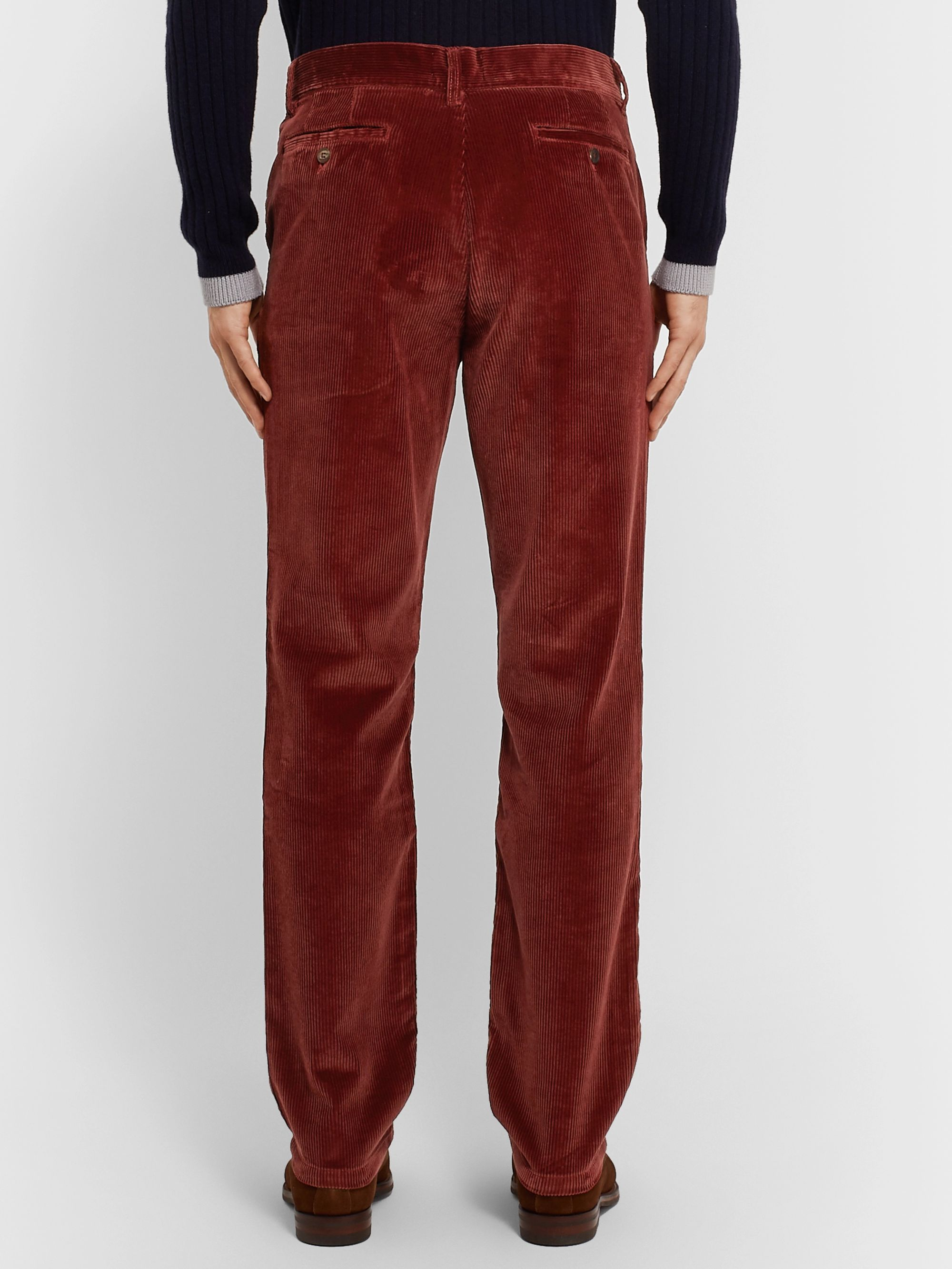 James Purdey & Sons Slim-Fit Cotton-Needlecord Trousers