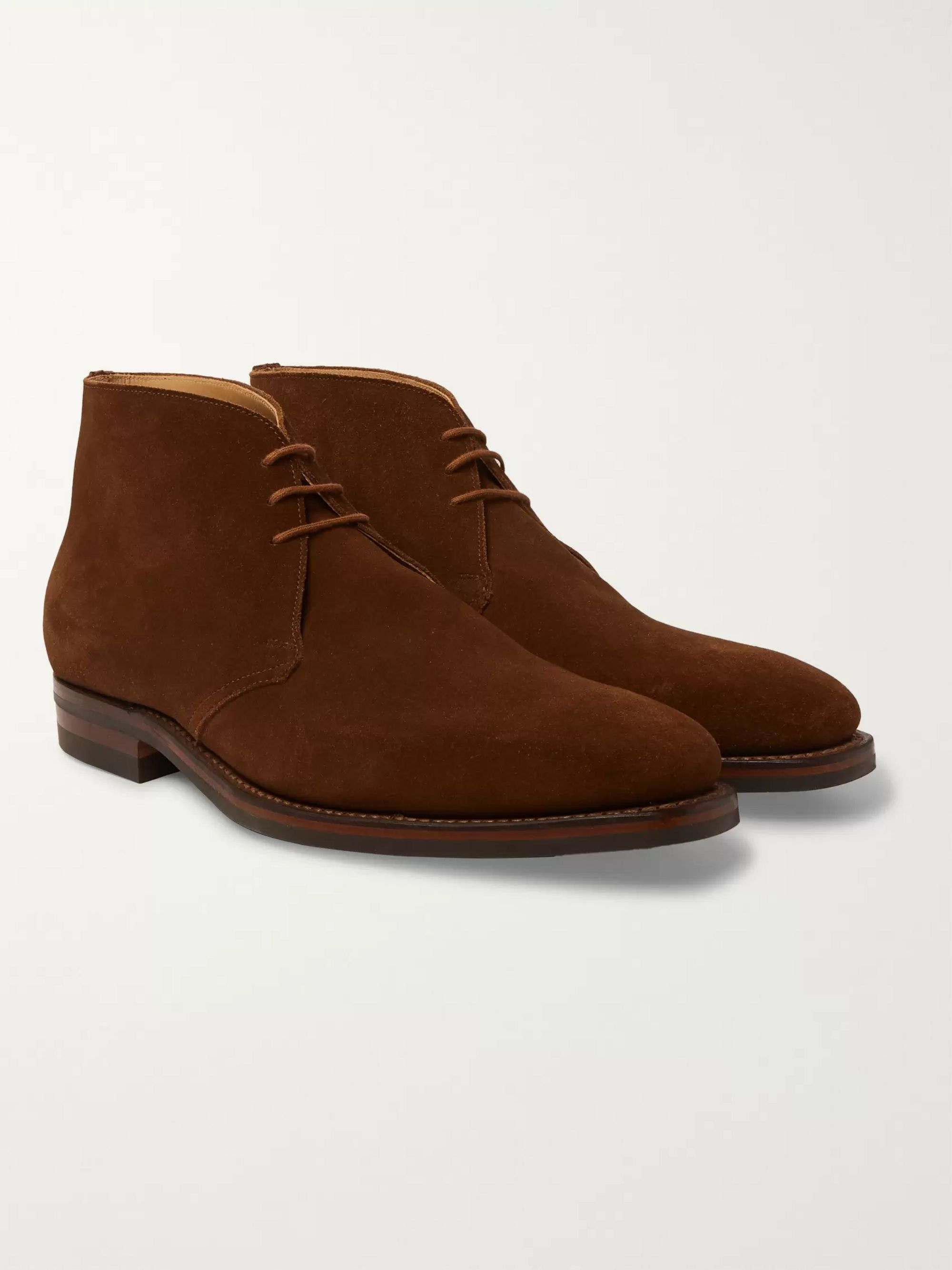 Suede Chukka Boots by James Purdey & Sons