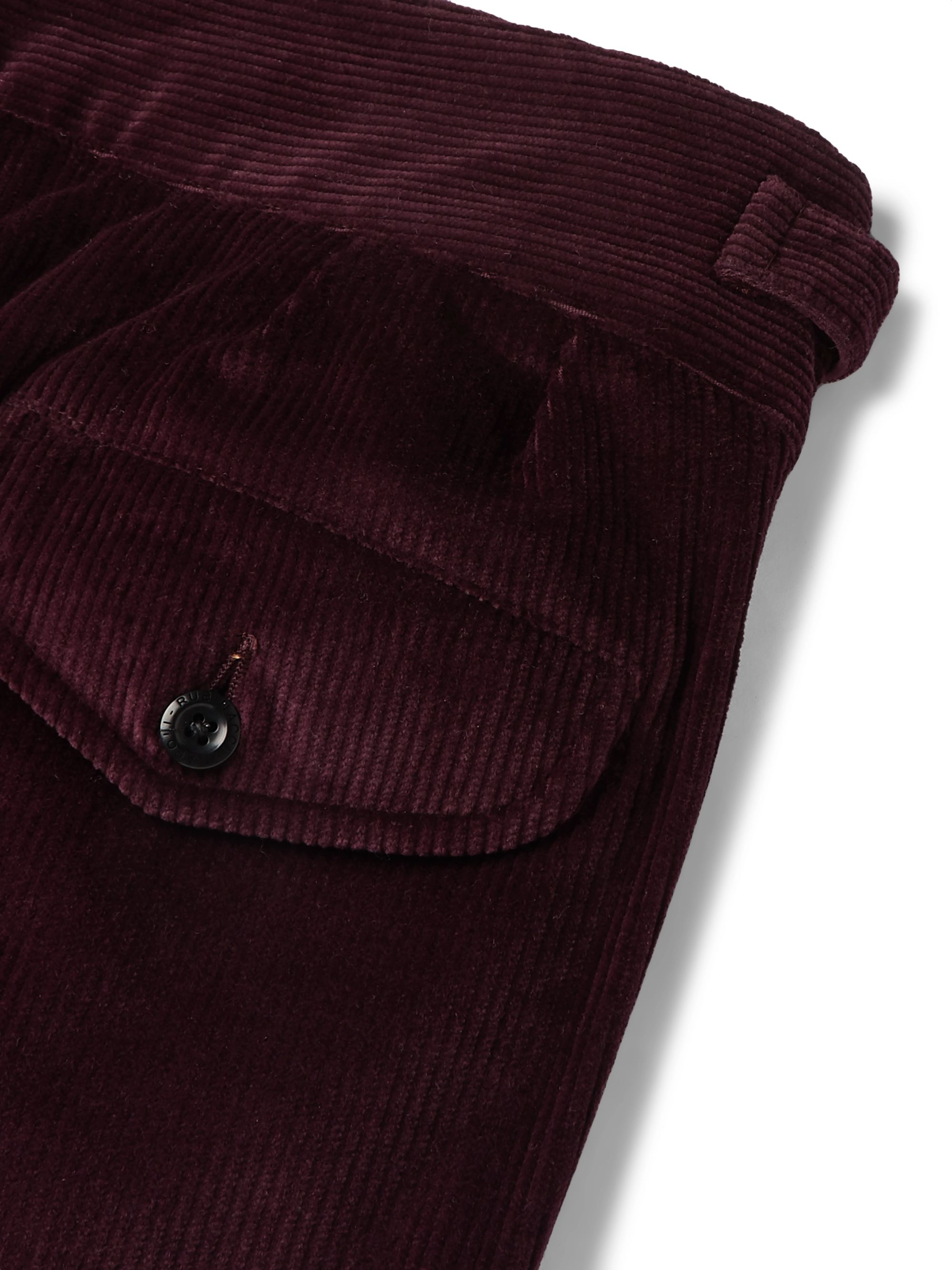 Rubinacci Manny Pleated Cotton-Blend Corduroy Trousers