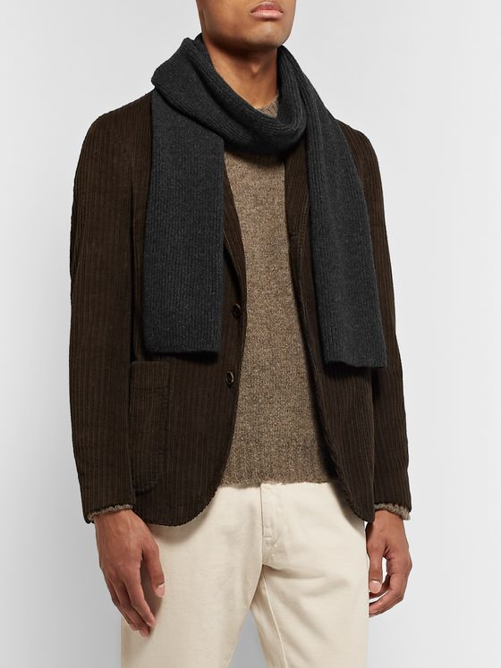William Lockie Ribbed Cashmere Scarf