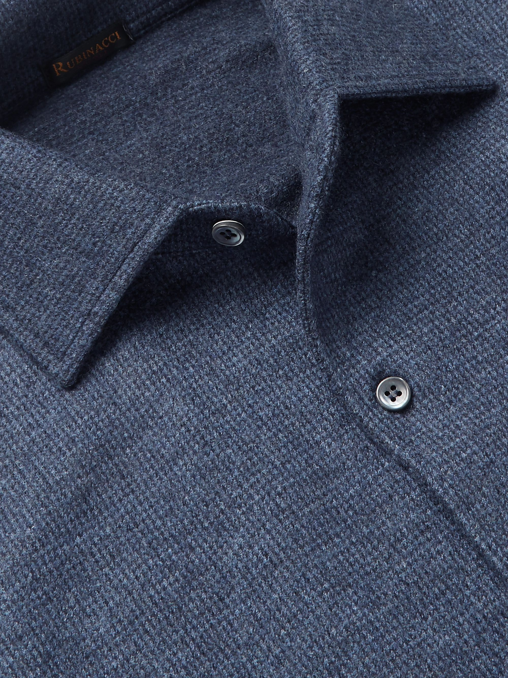 Rubinacci Slim-Fit Puppytooth Cashmere Shirt