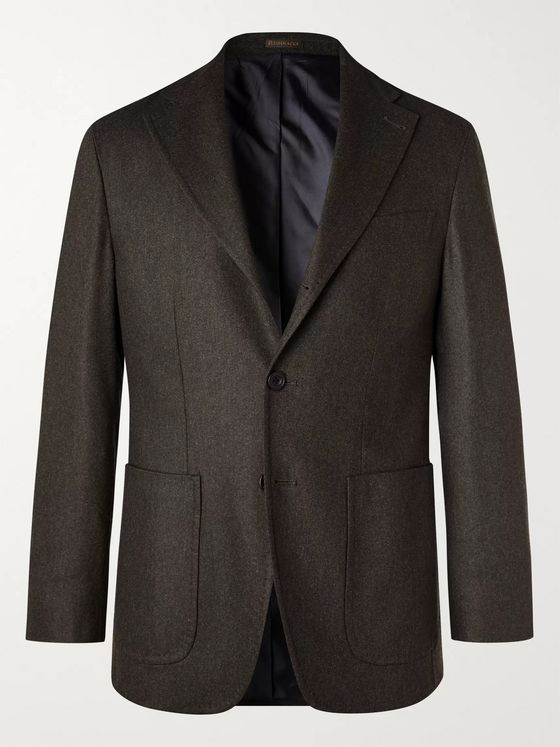 RUBINACCI Wool and Cashmere-Blend Flannel Suit Jacket