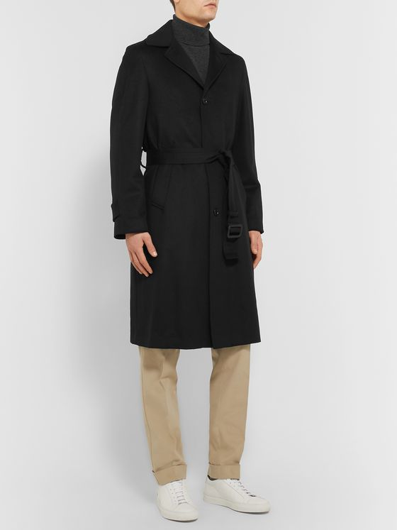 SAMAN AMEL Wool and Cashmere-Blend Coat