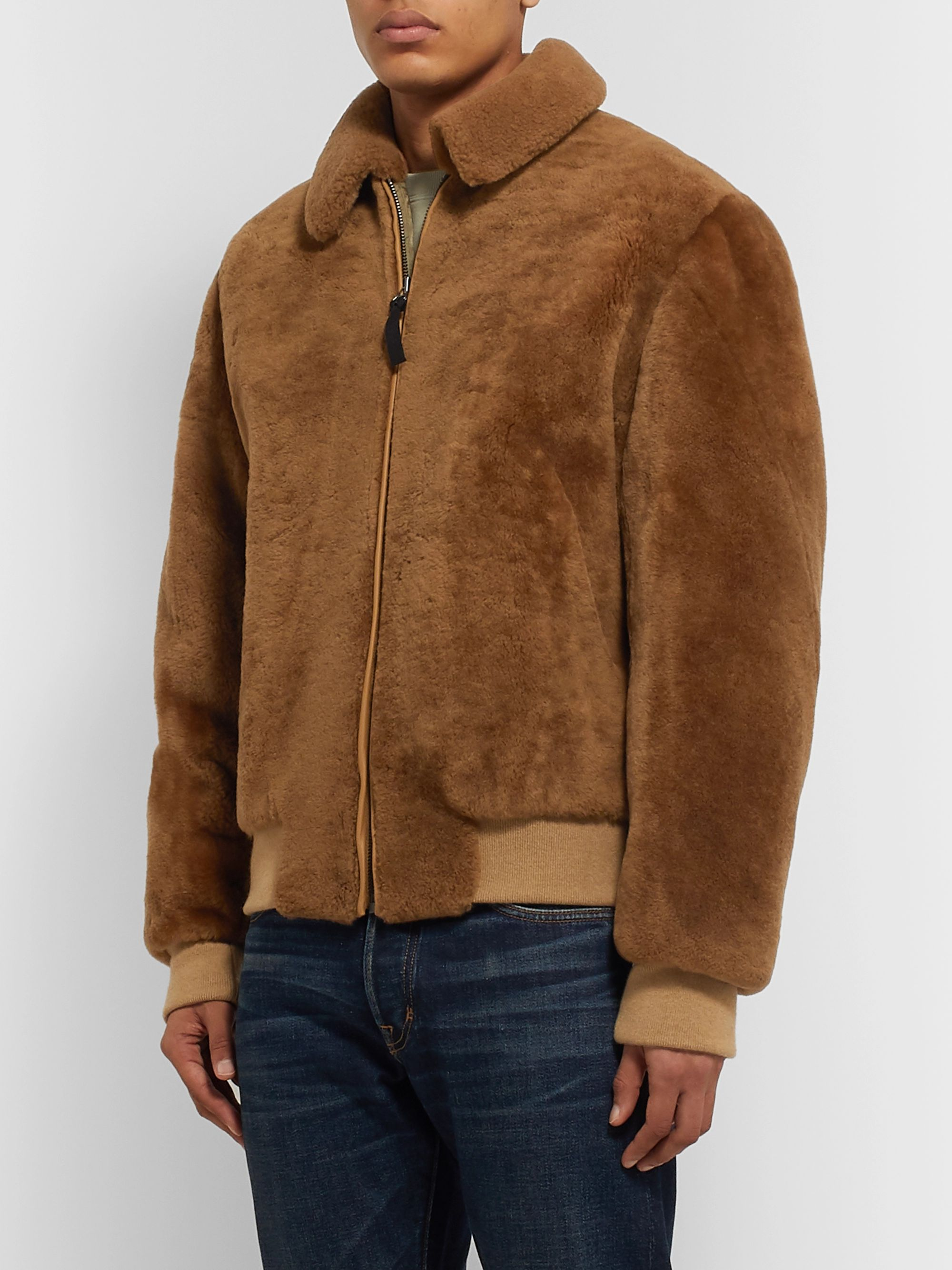 Yves Salomon Shearling Blouson Jacket