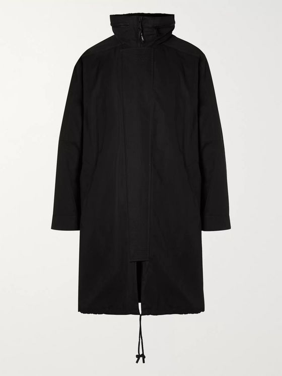 Yves Salomon Hooded Cotton-Blend Canvas Parka with Detachable Shearling Liner