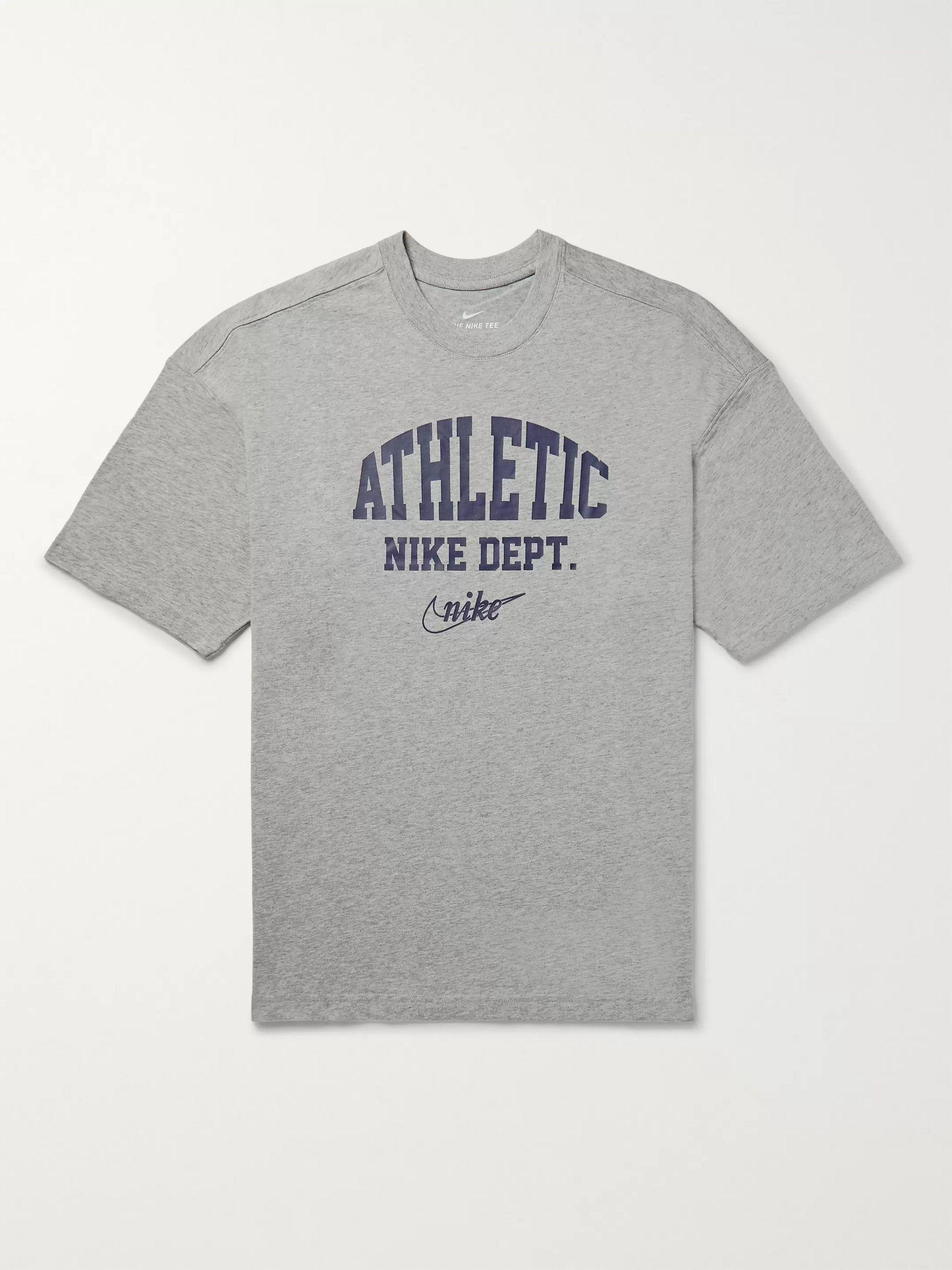 Sportswear Logo Print Mélange Cotton Jersey T Shirt by Nike