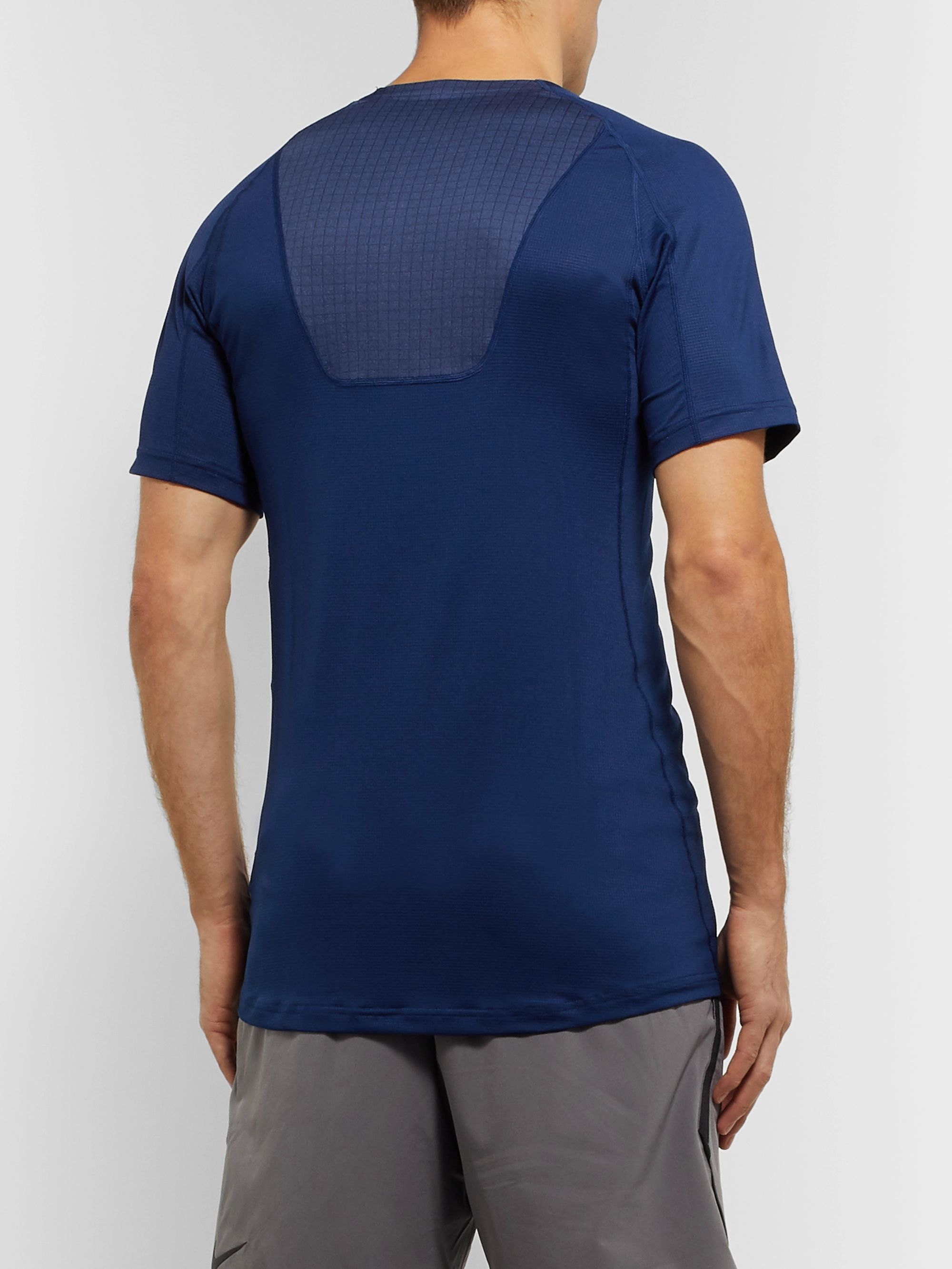 Nike Training Pro Slim-Fit Mesh-Panelled Dri-FIT Breathe T-Shirt