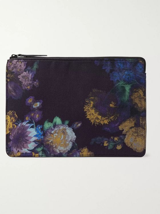 Dries Van Noten Floral-Print Canvas Pouch