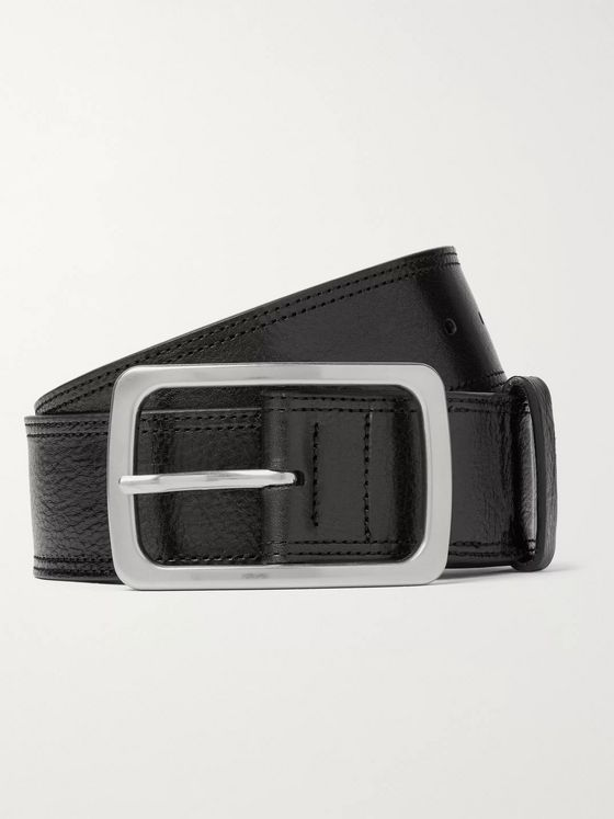 Dries Van Noten 4.5cm Dark-Brown Leather Belt