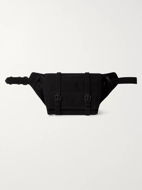 Dries Van Noten Leather-Trimmed Canvas Belt Bag