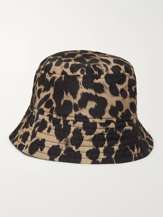 Dries Van Noten Leopard-Print Shell Bucket Hat