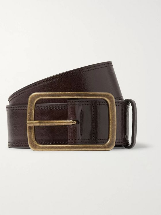 Dries Van Noten 4.5cm Black Leather Belt