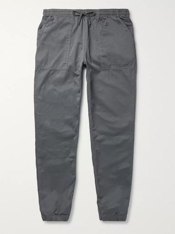 Save Khaki United + New Balance Tapered Herringbone Cotton Drawstring Trousers