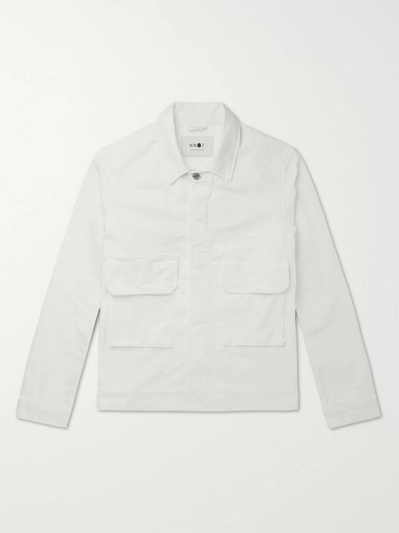 NN07 Burke Stretch-Cotton Twill Overshirt