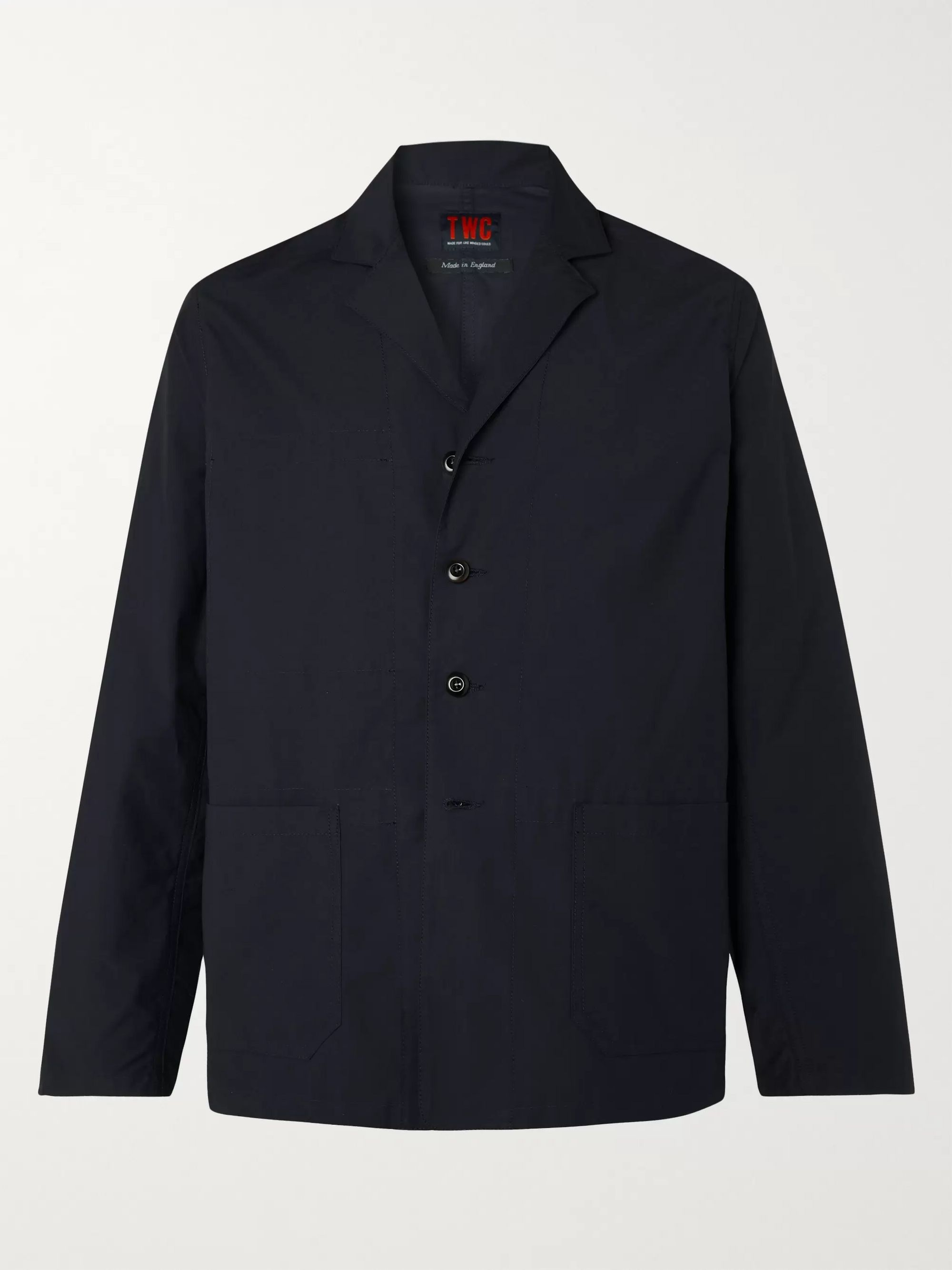 The Workers Club Camp-Collar Unstructured Twill Blazer