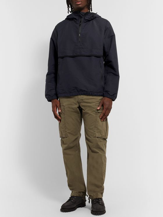 NANAMICA Slub Shell Hooded Half-Zip Anorak