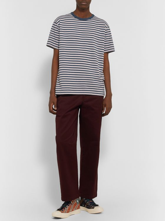 nanamica Striped Cotton and COOLMAX-Blend Jersey T-Shirt
