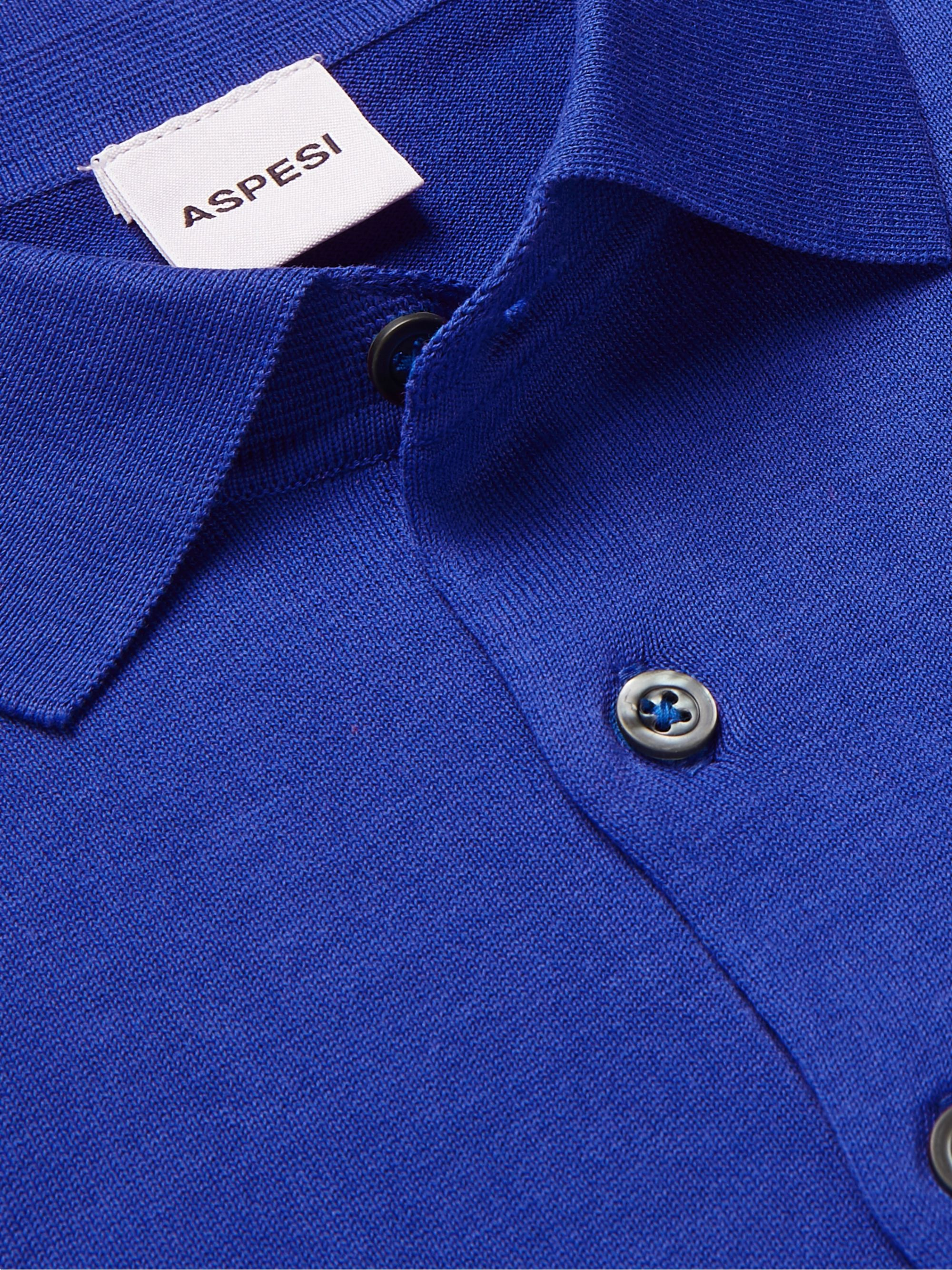 Aspesi Slim-Fit Cotton Polo Shirt