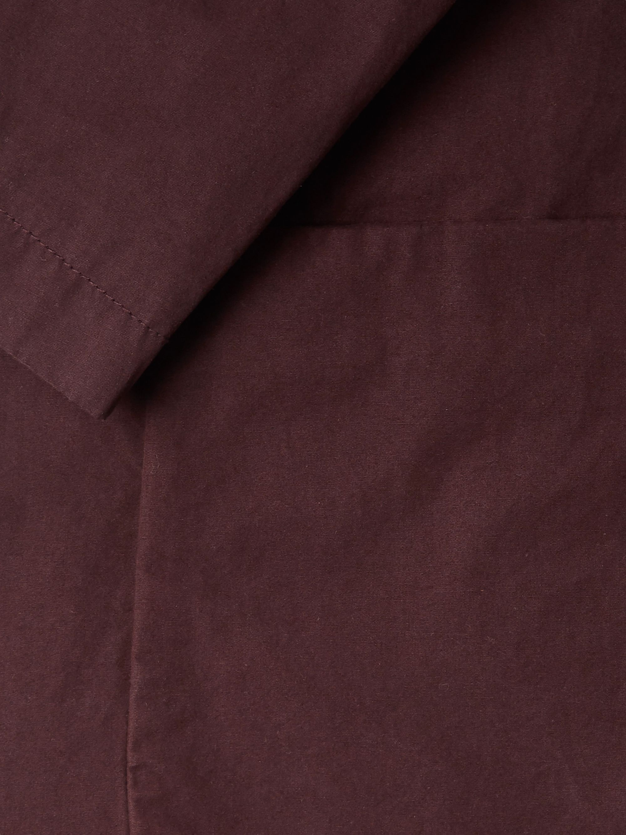 Aspesi Burgundy Slim-Fit Unstructured Garment-Dyed Cotton Blazer