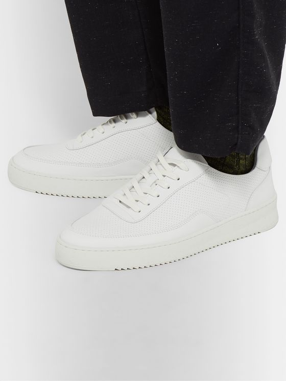 Aspesi + Filling Pieces Perforated Leather Sneakers