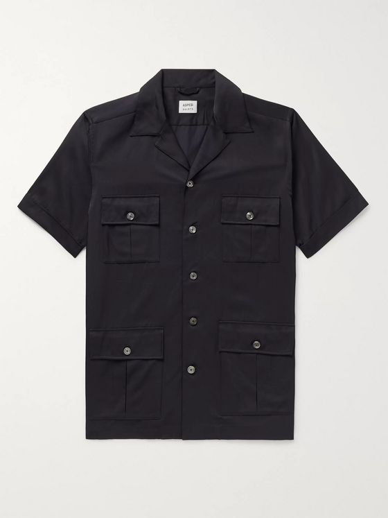 Aspesi Camp-Collar Shell Shirt