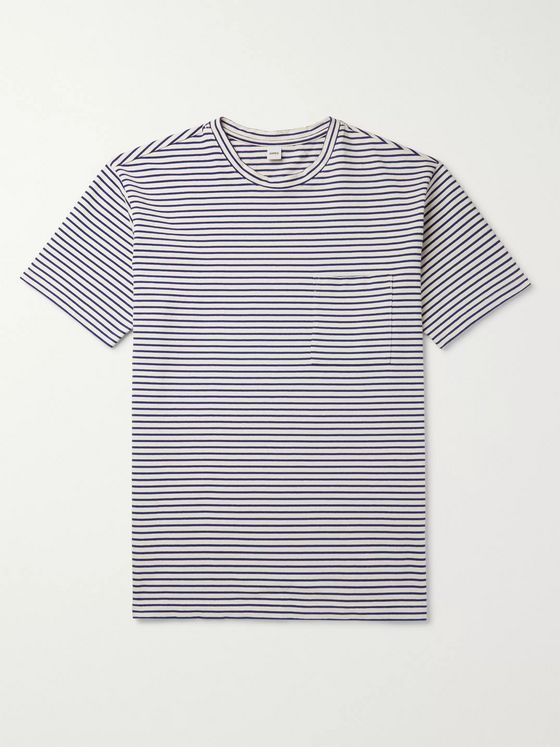 Aspesi Striped Cotton-Jersey T-Shirt