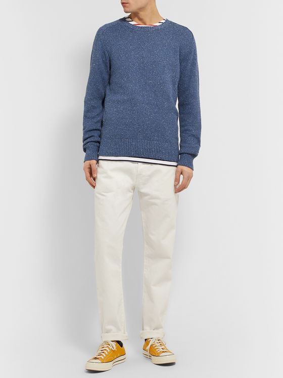Alex Mill Mélange Cotton and Silk-Blend Sweater