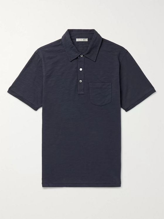 Alex Mill Slim-Fit Slub Cotton-Jersey Polo Shirt