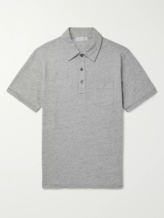 Alex Mill Slim-Fit Mélange Cotton-Jersey Polo Shirt