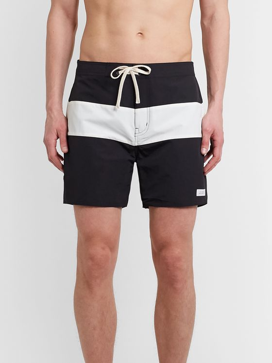 Saturdays NYC Grant Mid-Length Colour-Block Swim Shorts