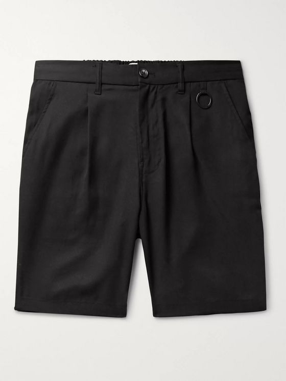 Saturdays NYC Martin Pleated Lyocell Shorts