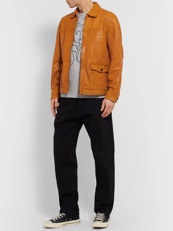 Alex Mill Tumbled-Leather Jacket