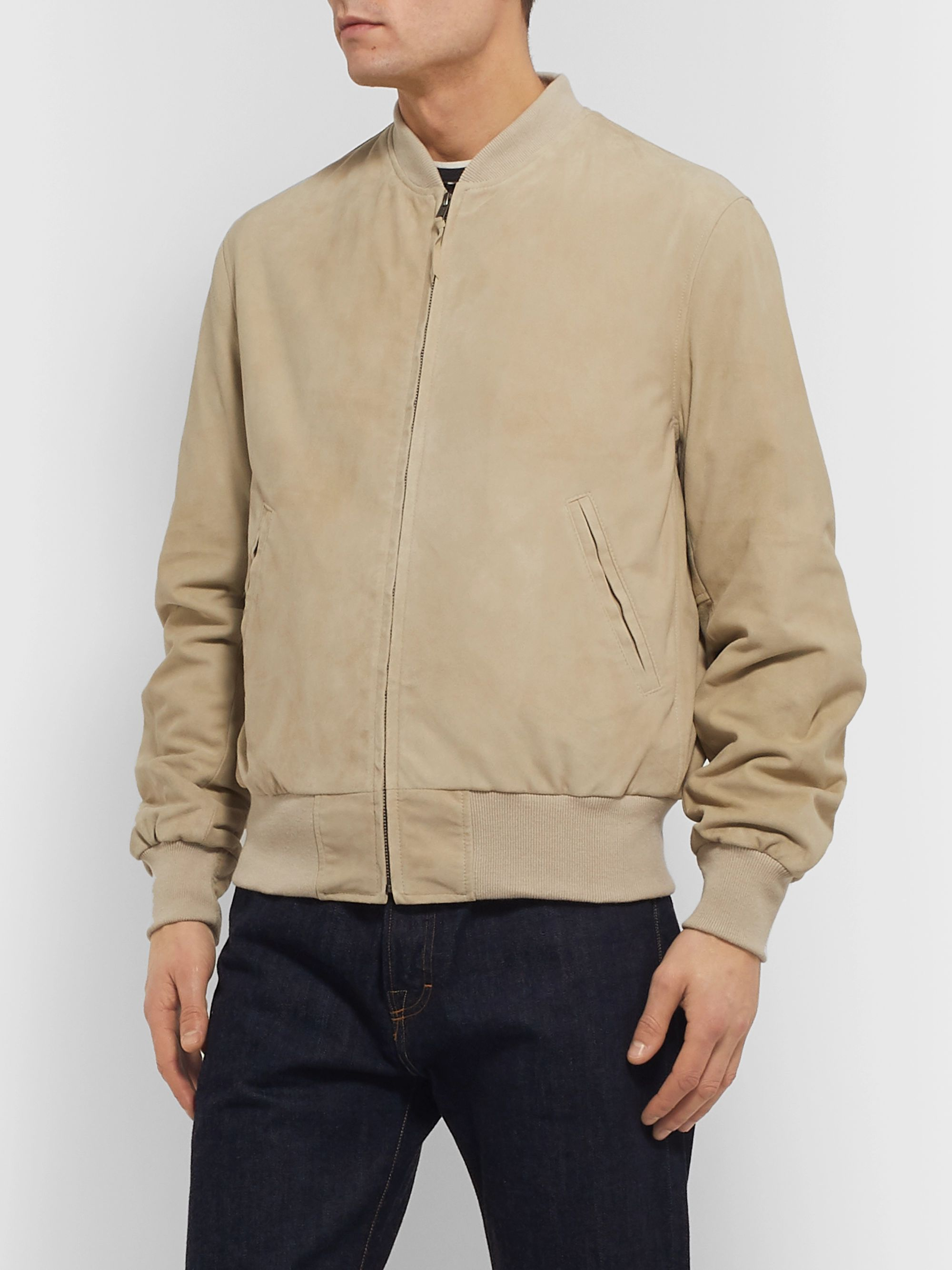Golden Bear Suede Bomber Jacket