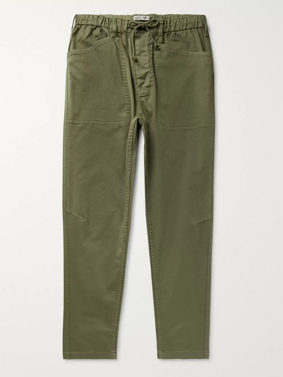 Alex Mill Slim-Fit Stretch-Cotton Twill Drawstring Trousers