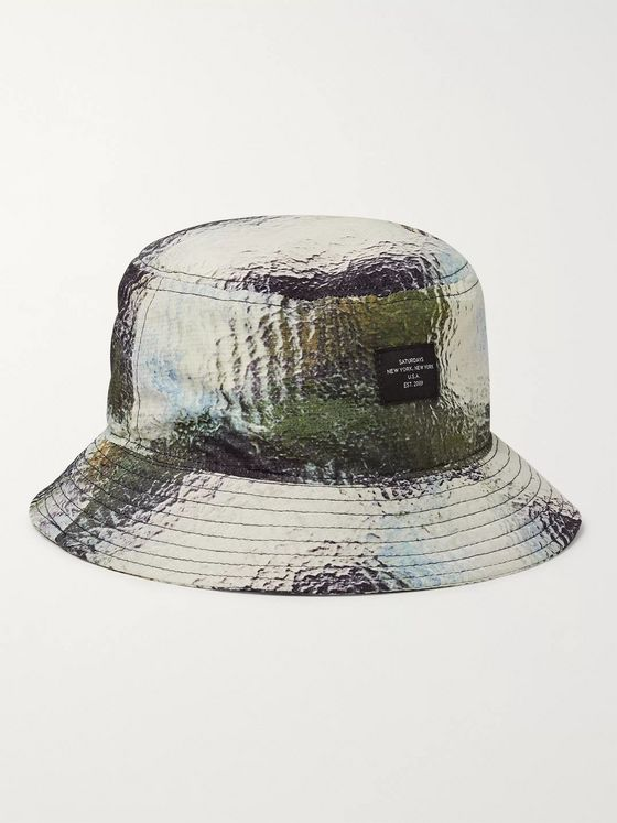 Saturdays NYC Earl Printed Nylon-Ripstop Bucket Hat