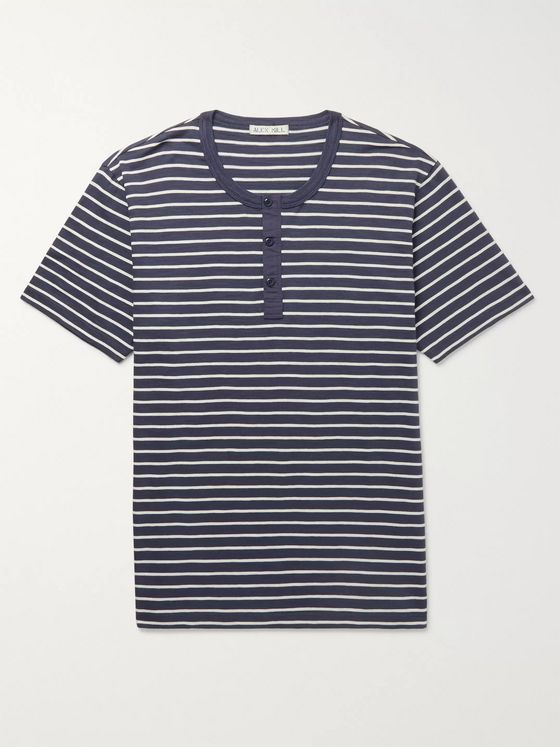 Alex Mill Slim-Fit Striped Cotton-Jersey Henley T-Shirt