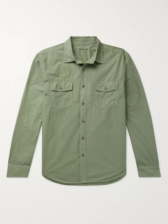 Alex Mill Garment-Dyed Cotton-Poplin Overshirt