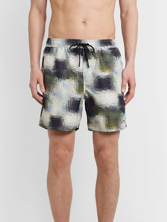 Saturdays NYC Timothy Mid-Length Printed Swim Shorts