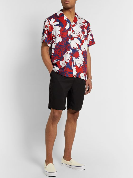 Saturdays NYC Canty Camp-Collar Printed Tencel Shirt