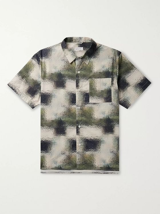 Saturdays NYC Alpons Printed Cotton-Poplin Shirt