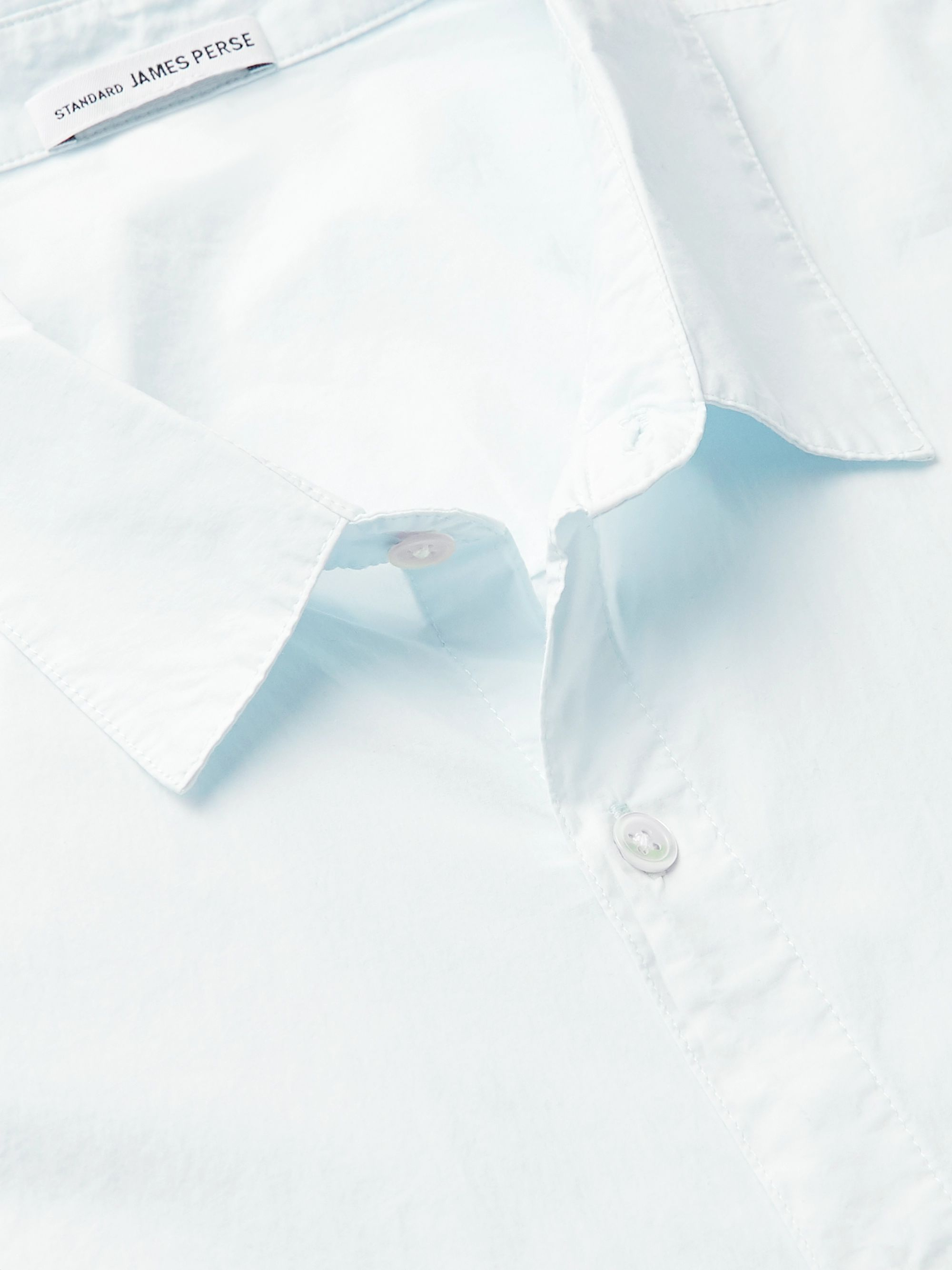 James Perse Slim-Fit Garment-Dyed Stretch Cotton-Blend Poplin Shirt