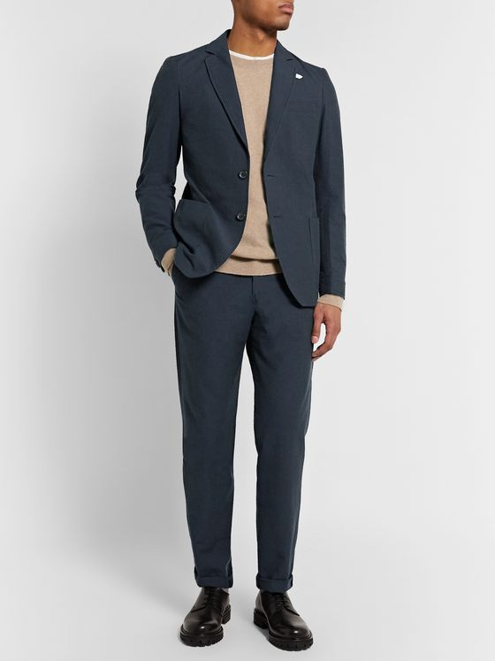 Oliver Spencer Cotton-Seersucker Suit Trousers