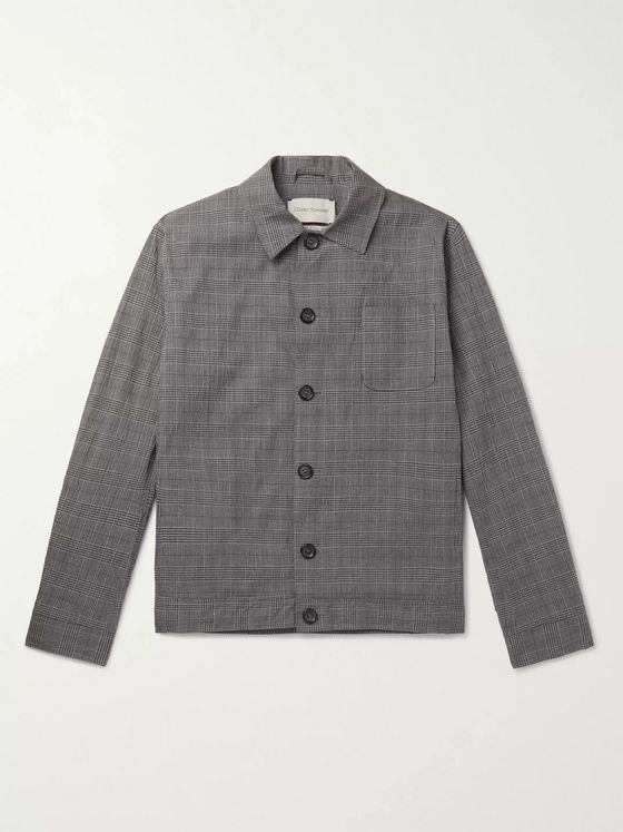 Oliver Spencer Buckland Prince of Wales Checked Cotton-Blend Jacket