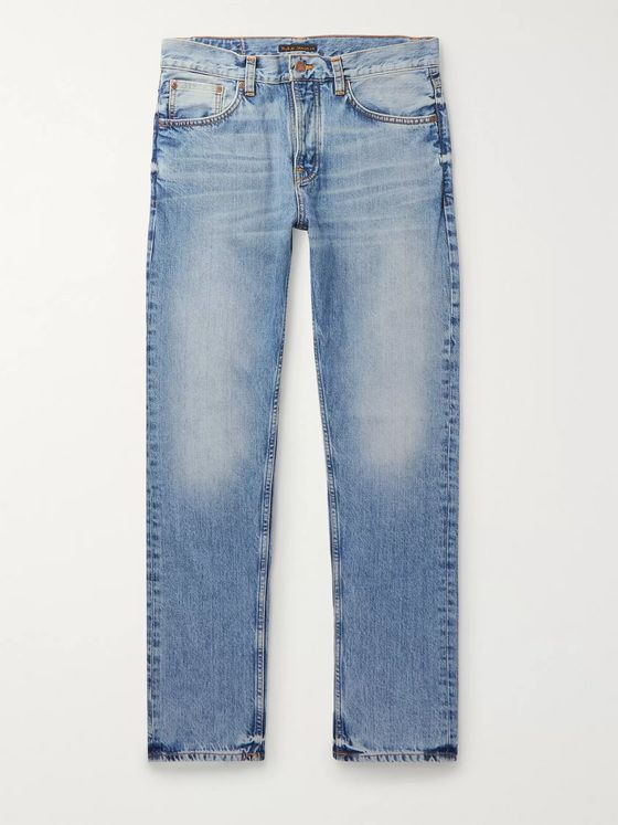 Nudie Jeans Steady Eddie II Slim-Fit Organic Denim Jeans