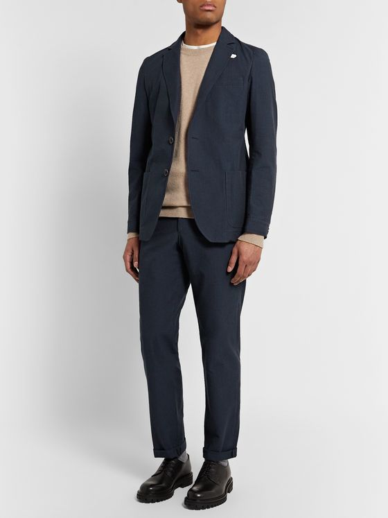 Oliver Spencer Slim-Fit Cotton-Seersucker Suit Jacket